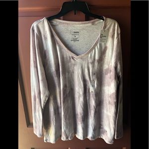 Sonoma 1x tie dye long sleeve shirt new with tags